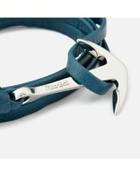 Miansai - Metallic Men's Leather Bracelet With Silver Anchor for Men - Lyst