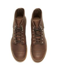 Red Wing - Brown Men's 6 Inch Iron Ranger Toe Cap Leather Lace Up Boots for Men - Lyst