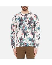 PS by Paul Smith - Pink Men's Long Sleeve Printed Sweatshirt for Men - Lyst
