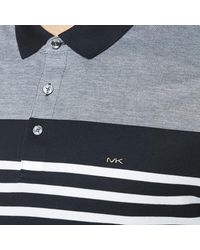 Michael Kors - Blue Men's Engineer Stripe Polo Shirt for Men - Lyst