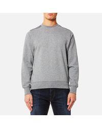 PS by Paul Smith - Gray Men's Panelled Crew Neck Sweatshirt for Men - Lyst
