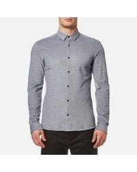 HUGO | Blue Men's Ero3 Long Sleeve Shirt for Men | Lyst