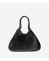 Cole Haan | Black Genevieve Weave Large Triangle Tote | Lyst