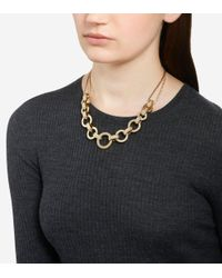 Cole Haan - Metallic Put A Ring On It Chunky Statement Necklace - Lyst