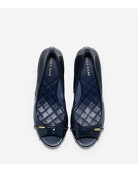 Cole Haan | Blue Tali Grand Open Toe Wedge (40mm) | Lyst
