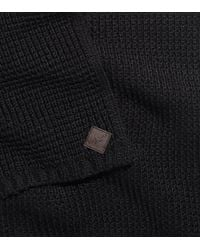 Cole Haan - Black Thermal Stitch Muffler for Men - Lyst
