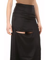 J.W. Anderson - Black Asymmetric Bonded Skirt With Cut-out Detail - Lyst