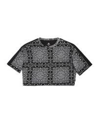 Converse - Black X Miley Cyrus Boxy Cropped Track Women's T-shirt - Lyst