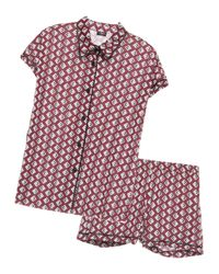Cosabella - Red Bella Printed Capsleeve & Boxer Pajama Set - Lyst