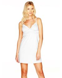 Cosabella   White Dolce Cotton Cup Babydoll   Lyst