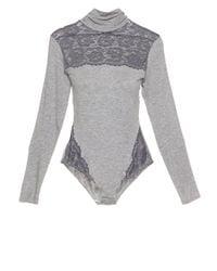 Cosabella - Gray Nouveau Bodysuit - Lyst