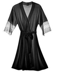 Cosabella   Black Papyrus Robe   Lyst