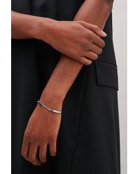 COS - Metallic Double-row Chain Bracelet - Lyst