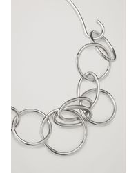 COS - Metallic Interlocking Chunky Necklace - Lyst