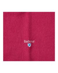 Barbour - Pink Plain Lambswool Scarf - Lyst