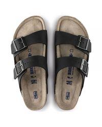 Birkenstock - Arizona Soft Footbed Birko-flor Regular Fit Unisex Sandal, Black for Men - Lyst