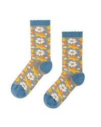 Seasalt - Blue Womens Floral Feet Socks (ss17) - Lyst