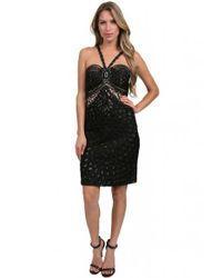 Sue Wong   Applique Dress In Black Cocktail Dress   Lyst