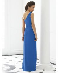 After Six - Blue Dress In Lapis - Lyst