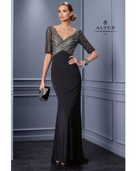 Alyce Paris | Black Mother Of The Bride - Dress In Charcoal | Lyst