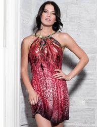 Baccio Couture | Red Eva - Silk Short Dress | Lyst