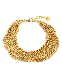 Ben-Amun - Metallic Four Row Gold Chain Necklace - Lyst
