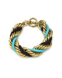 Ben-Amun - Blue St. Tropez Chain Twist Bracelet - Lyst