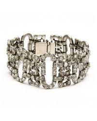 Ben-Amun - Metallic Crystal Vintage Deco Bracelet - Lyst