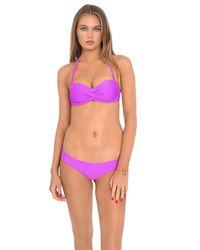 Luli Fama | Cosita Buena Underwire Push Up Bandeau In Purple Ocean (l) | Lyst