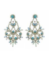 Elizabeth Cole   Blue Indira Earring   Lyst