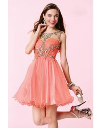 Alyce Paris - Pink Homecoming - 3674 Dress In Coral - Lyst