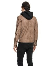 Lamarque - Brown Slayer Motorcycle Jacket In Espresso for Men - Lyst
