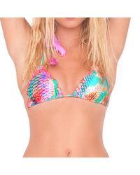 Luli Fama - Libertad Tornasol Crystallized Wavey Triangle Top In Multicolor (l) - Lyst