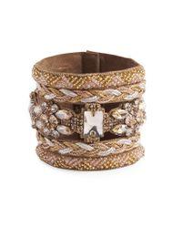 Deepa Gurnani - Metallic Pacey Bracelet - Lyst