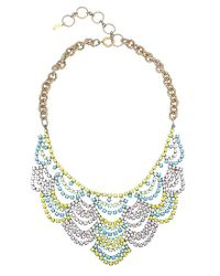 Elizabeth Cole | Black Lace Necklace | Lyst
