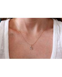 Rachael Ryen - Metallic Leo Diamond Zodiac Charm Necklace - Lyst
