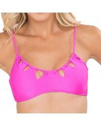 Luli Fama - Pink Zig-zag Cut-out Bra In Too Hot Miami (l) - Lyst