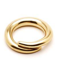 Ben-Amun - Metallic Gold Spiral Bangle - Lyst