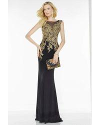 Alyce Paris - Black Label - 5737 Dress In Black Gold - Lyst
