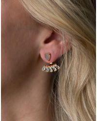 Rachael Ryen - Blue Teardrop Baguette Ear Jackets - Lapis - Lyst