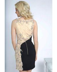 Jovani - Black Elegant Cocktail Dress In Jewel Design Jvn - Lyst