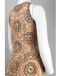 Adrianna Papell - Natural 41897070 Embellished Jewel Sheath Dress - Lyst