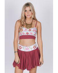 Raga - Purple Linden Blossom Ruffle Skirt - Lyst