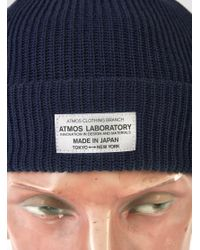 Atmos Lab - Blue Cool Max Cuff Knit Navy for Men - Lyst