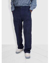 Lyst - Engineered Garments Fatigue Pant Reversed Sateen in Blue for Men 33febaf87ce