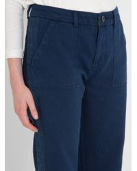 SIDELINE - Blue Jenny Trousers Indigo - Lyst