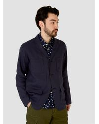 Sanca | Blue Linen Shirt Jacket Navy for Men | Lyst