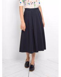 YMC | Blue Sheila Skirt | Lyst