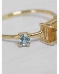 Michelle Oh - Ship Shape Ring Yellow & Aquamarine - Lyst