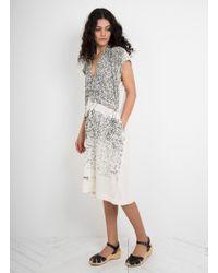 Anntian - Multicolor Silk Printed Simple Dress - Lyst